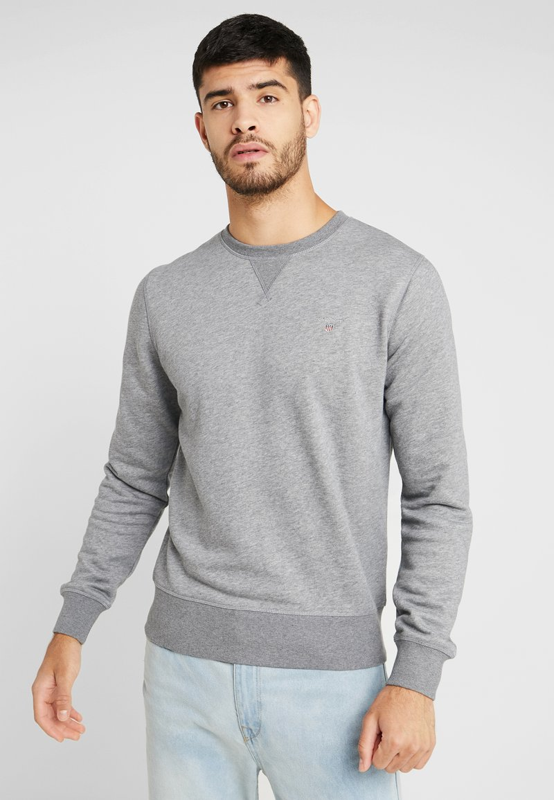 GANT - THE ORIGINAL C NECK  - Sweatshirt - dark grey melange