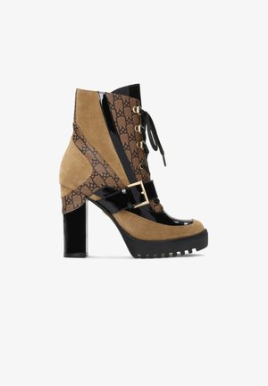 KALIOPE - High heeled ankle boots - brown