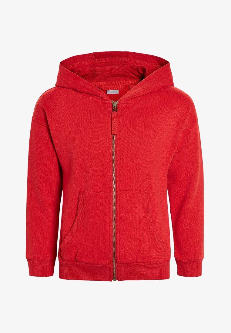 Next - Mikina na zip - red