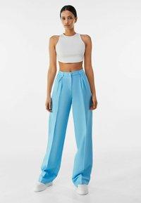 Bershka - Trousers - turquoise - 1