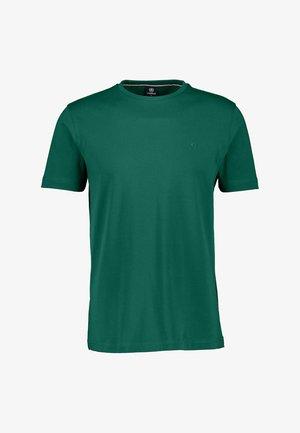 MIT RUNDHALSAUSSCHNITT  - Basic T-shirt - deep forest green