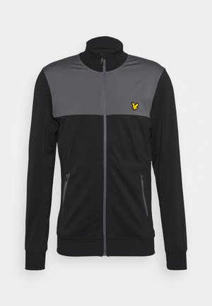 TECH TRACK JACKET - Trainingsvest - true black/rock grey