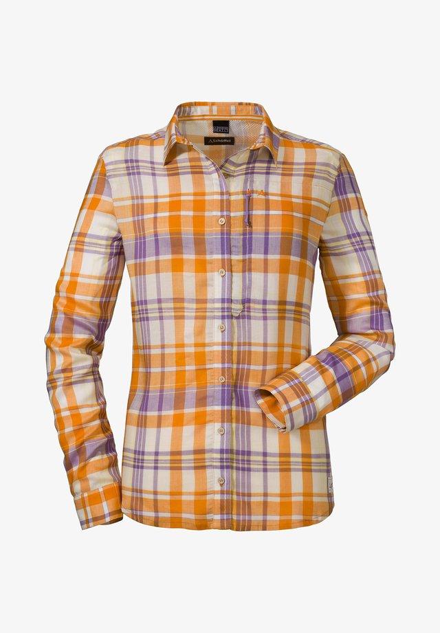 "SCHÖFFEL DAMEN WANDERBLUSE ""KAPSTADT L"" LANGARM - Button-down blouse - lavendel (325)"
