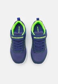 Skechers - MICROSPEC - Baskets basses - navy/lime/silver - 3