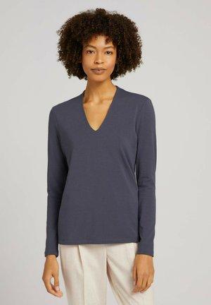Long sleeved top - dark graphite blue