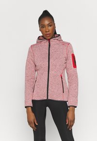 Campagnolo - WOMAN FIX HOOD JACKET - Giacca in pile - grenadine/bianco - 0