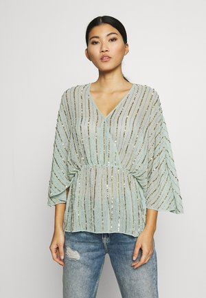 SEQUIN BATWING  - Bluse - sage