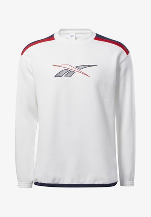 CLASSICS TEAM SPORTS CREW SWEATSHIRT - Sweatshirt - white