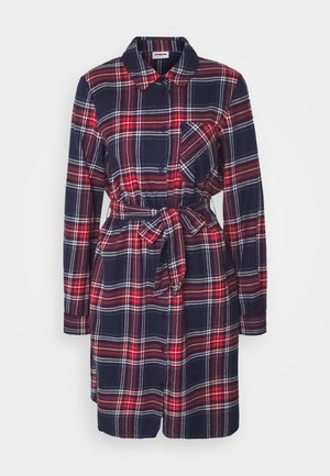 NMERIK   - Shirt dress - dark blue, red, white