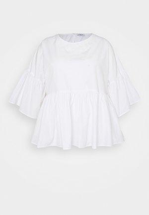 SLEEVE SMOCK - Blouse - white