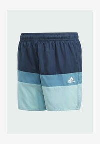 adidas Performance - COLORBLOCK SWIM SHORTS - Swimming shorts - blue - 0