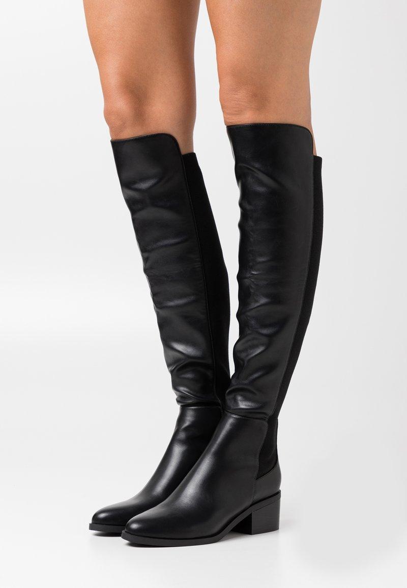 Steve Madden - GRAPHITE - Over-the-knee boots - black paris