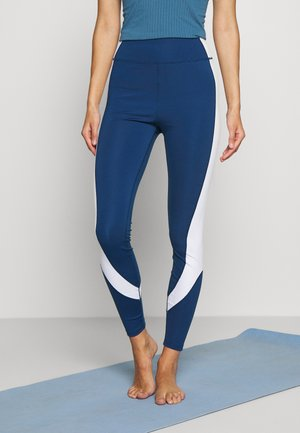 Leggings - white/dark blue