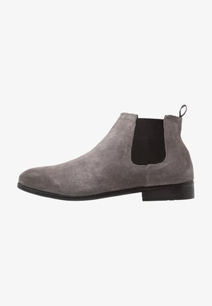 LEATHER - Classic ankle boots - dark gray