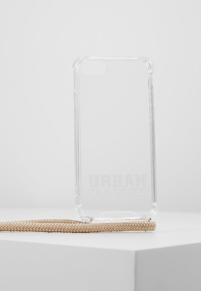 I PHONE 8 HANDY NECKLACE - Phone case - transparent/ beige