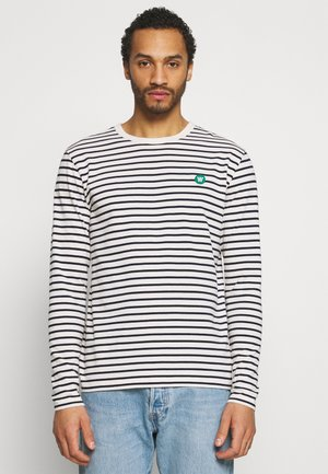 Long sleeved top - off white/navy stripes