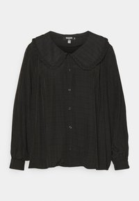 Missguided Plus - PLUS EXAGGERATED COLLAR SHIRT - Blouse - black - 0