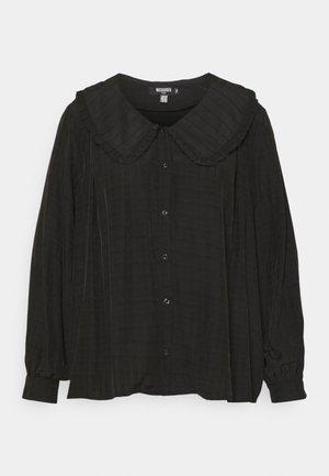 PLUS EXAGGERATED COLLAR SHIRT - Blouse - black