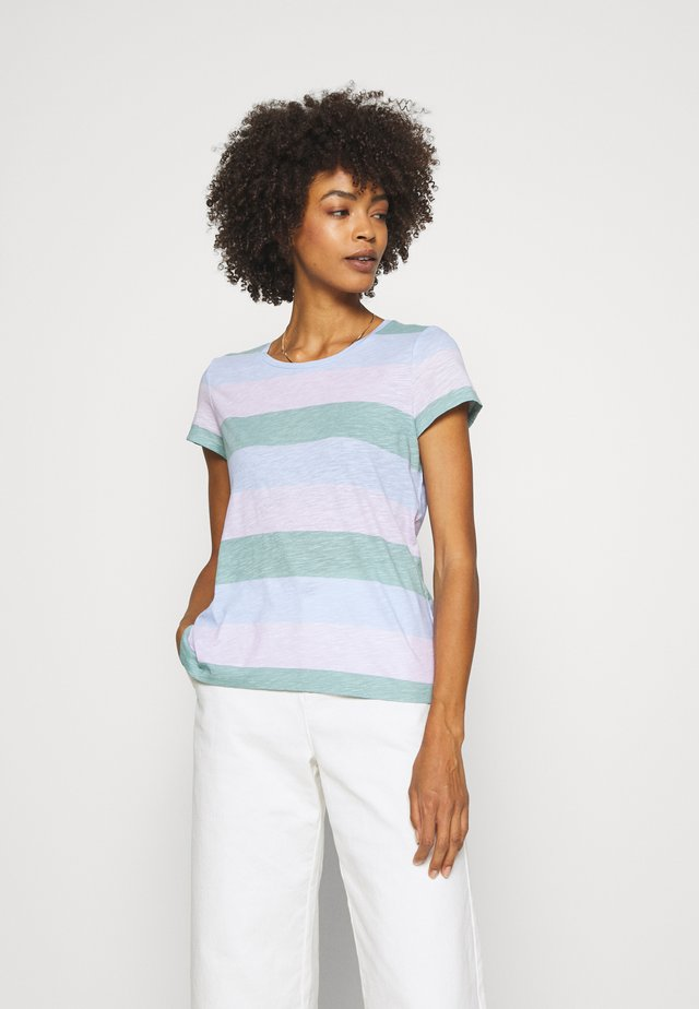 SHORT SLEEVE STRIPE - T-shirt z nadrukiem - multi