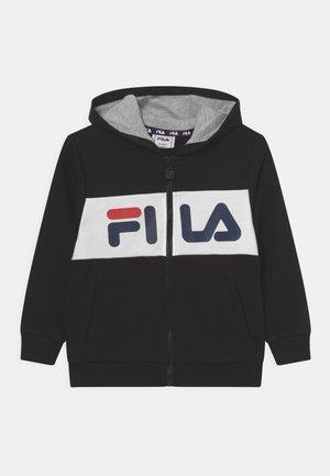 FRANKLIN BLOCKED HOODED UNISEX - Felpa con zip - black/bright white