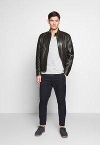 Strellson - FLAG - Leather jacket - dark brown - 1