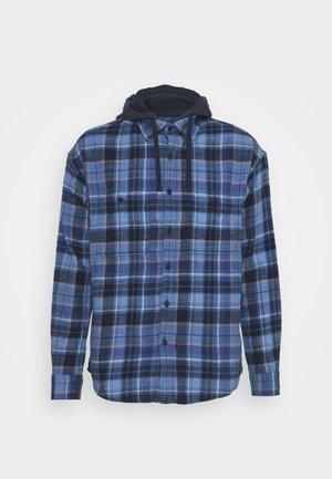 LONE PLAID HOODED - Overhemd - blue