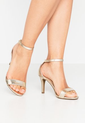 SIZZLE - High heeled sandals - gold