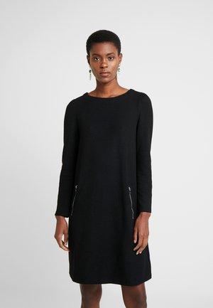ALINE ZIP BOUCLE - Jumper dress - true black