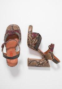 Topshop - RIPPLE PLATFORM - High heeled sandals - natural - 3