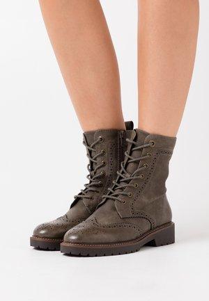 BOOTS - Platform ankle boots - khaki