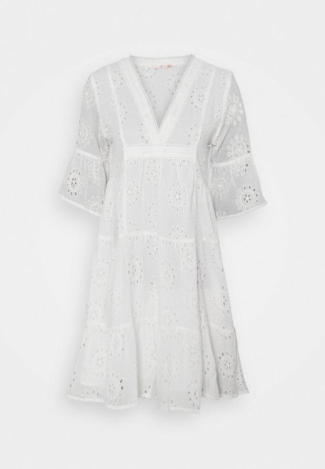 DRESS BRODERIE ANGLAISE - Vestito estivo - off white