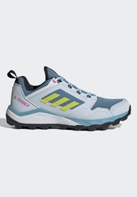adidas Performance - TERREX AGRAVIC TR - Fjellsko - hazy blue/acid yellow/crystal white - 10