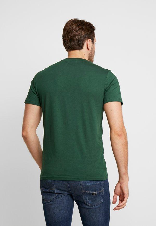 Pier One T-shirt z nadrukiem - dark green/ciemnozielony Odzież Męska PPGZ