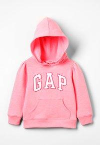 GAP - TODDLER GIRL ARCH POP  - Mikina skapucí - pink pop neon - 0