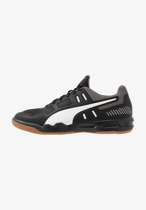 AURIZ - Handball shoes - black/white/castlerock