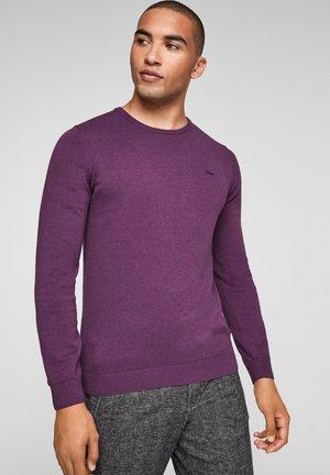 Strickpullover - purple melange