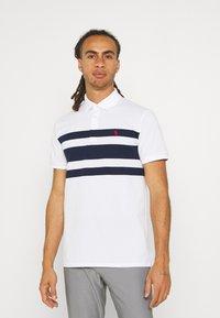 Polo Ralph Lauren Golf - SHORT SLEEVE - Print T-shirt - white/french navy - 0