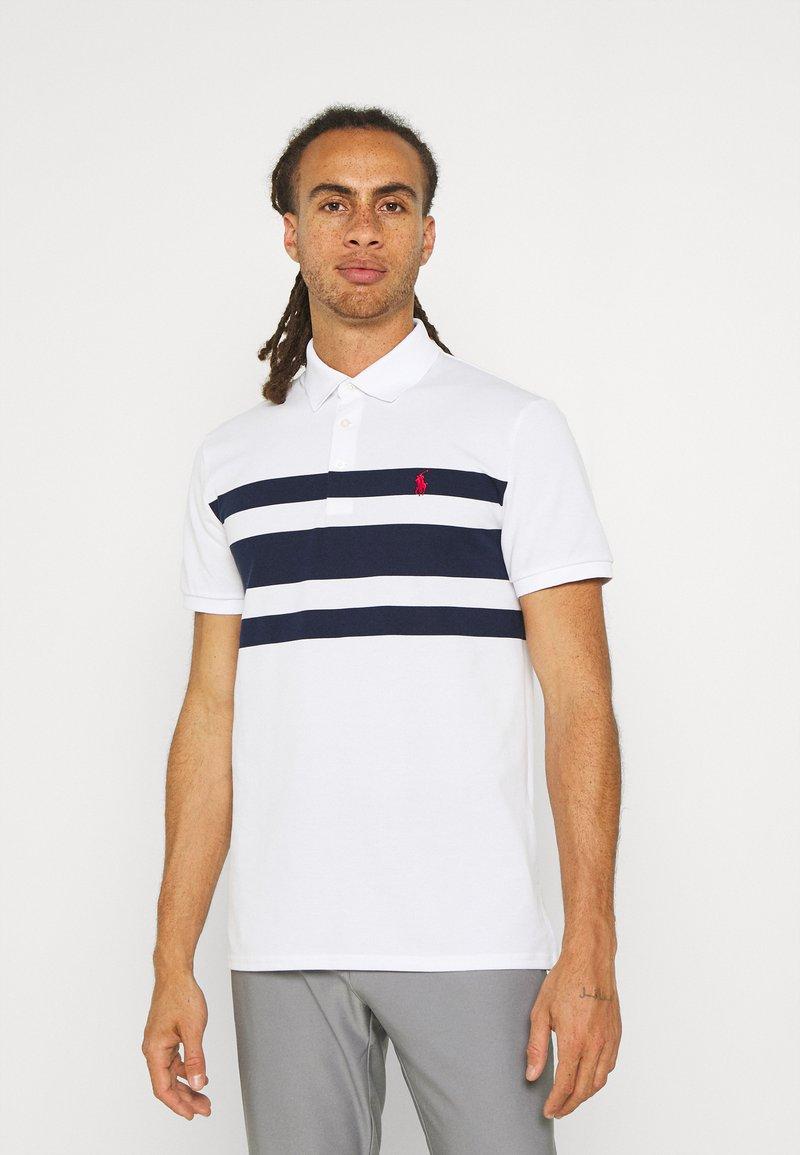 Polo Ralph Lauren Golf - SHORT SLEEVE - Print T-shirt - white/french navy
