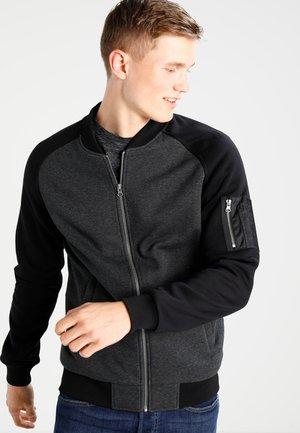 TONE - veste en sweat zippée - charcoal/black
