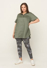 Zizzi - Leggings - Trousers - green - 0