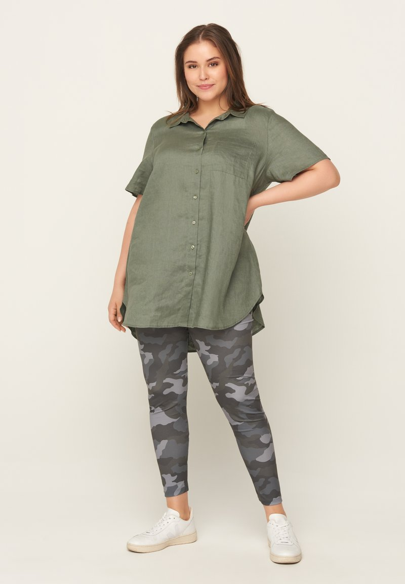 Zizzi - Leggings - Trousers - green