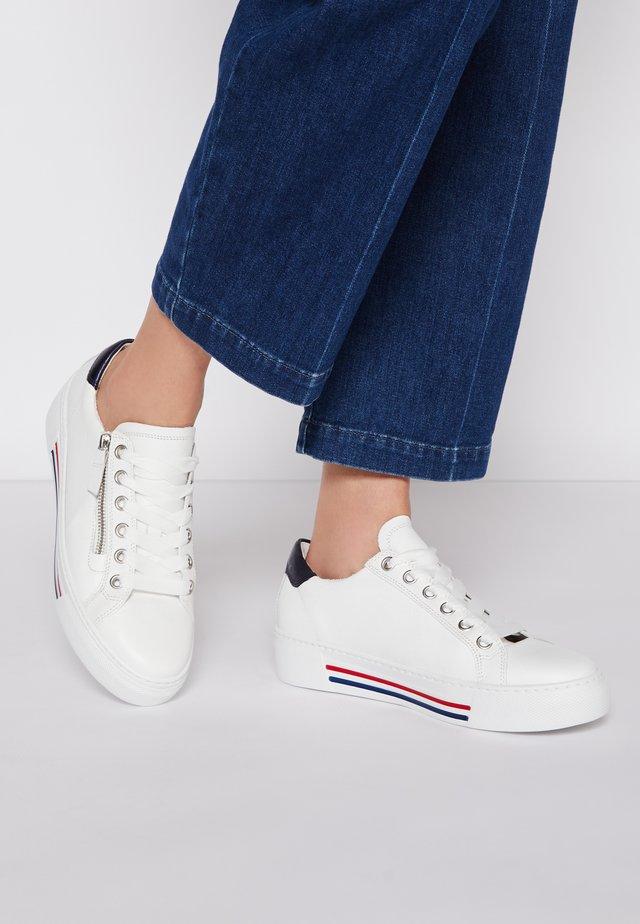 Sneakers laag - weiß/pazifik/rot