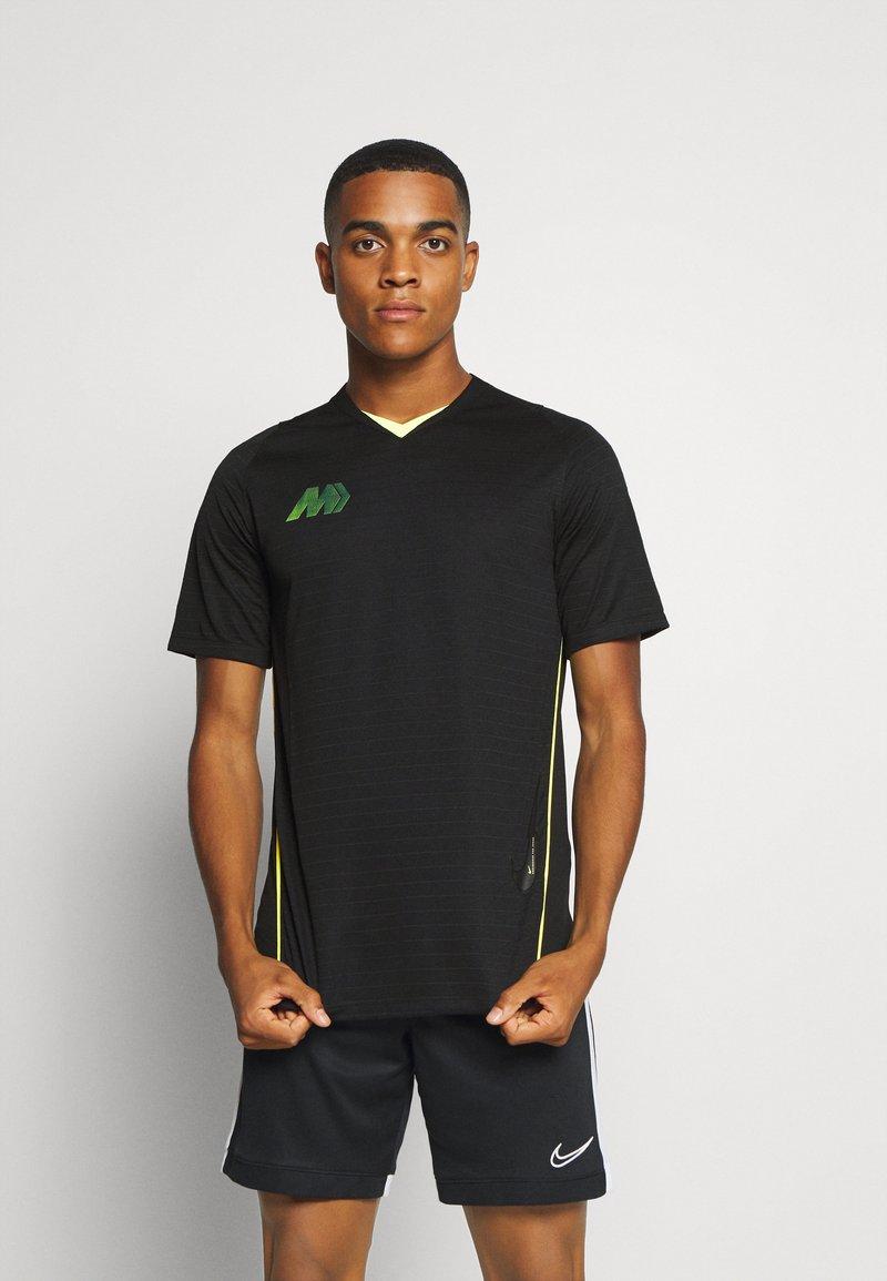 Nike Performance - DRY - Printtipaita - black/volt