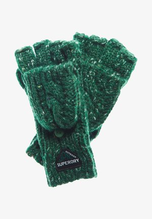 GRACIE - Fingerless gloves - burlington green tweed
