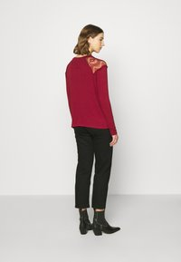 ONLY - ONLKIRA MIX - Long sleeved top - pomegranate - 2
