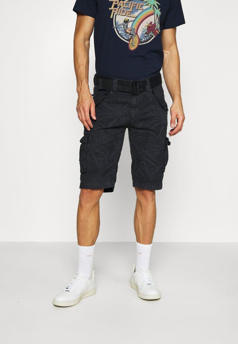 Schott - Cargo trousers - navy