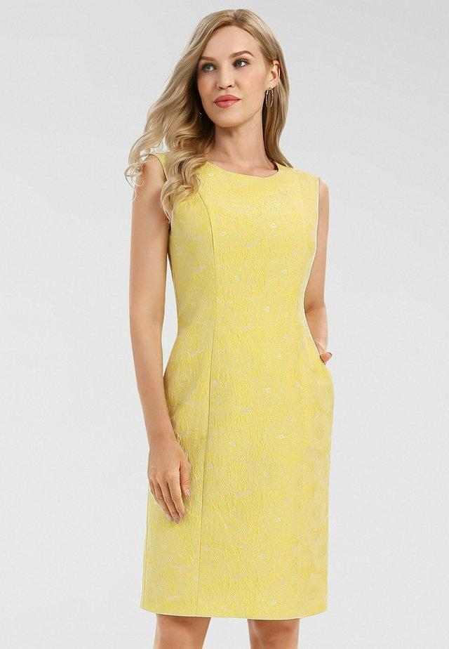 Robe fourreau - gelb