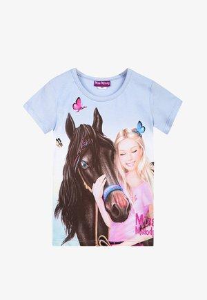 MISS MELODY - Print T-shirt - halogen blue