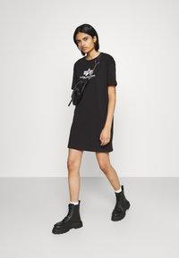 Alpha Industries - BASIC LONG - Jersey dress - black - 1