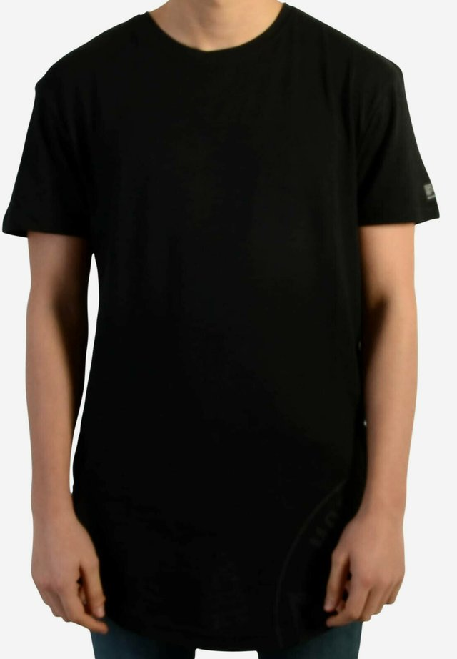 ZIPPERMAX - T-shirt imprimé - black